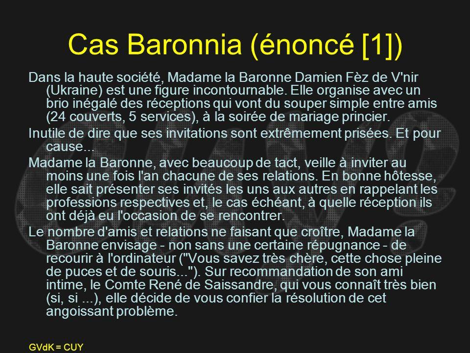 Cas Baronnia (énoncé [1])